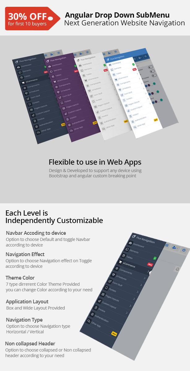 angular dropdown menu